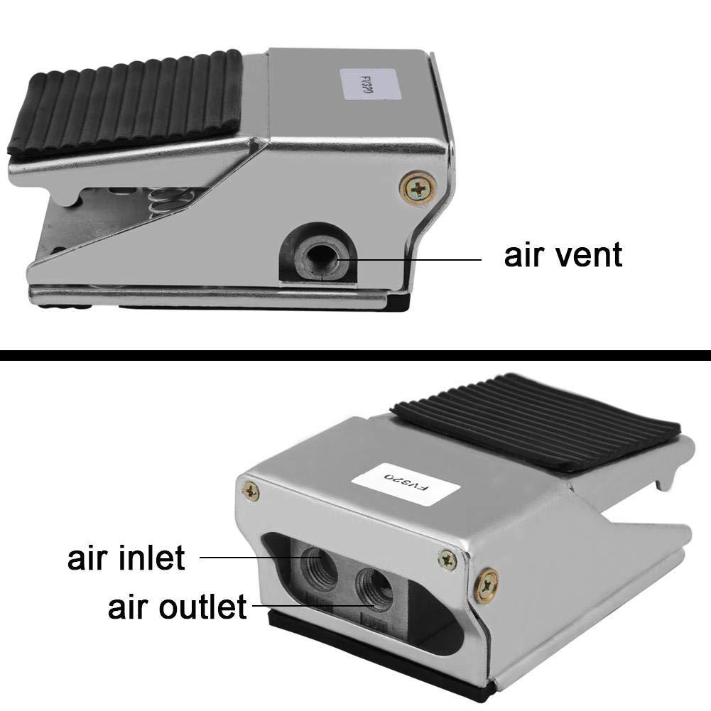 contr/ôleur de commutateur pneumatique /à p/édale P/édale pneumatique FV-320 G1//4 /à 3 voies interrupteur /à p/édale pneumatique 2 positions