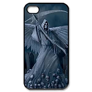 LZHCASE Diy Customized hard Case Grim Reaper For Iphone 4/4s [Pattern-1]