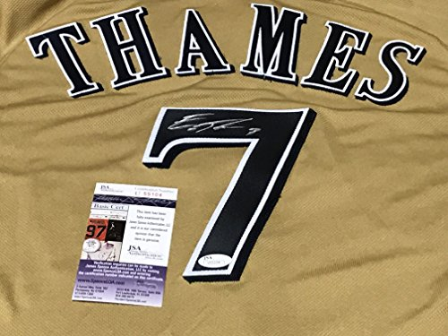 Authentic Milwaukee Brewers Jersey - Eric Thames Milwaukee Brewers Autographed Signed Authentic Jersey JSA COA