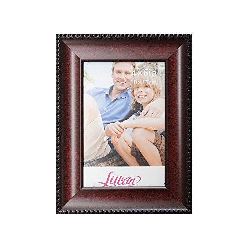 Lilian Wood-like Burgundy with Thin Pattern Display 8x10 Desk/Wall Photo Frame - Wall Mounting Material - Wood Brown Pattern