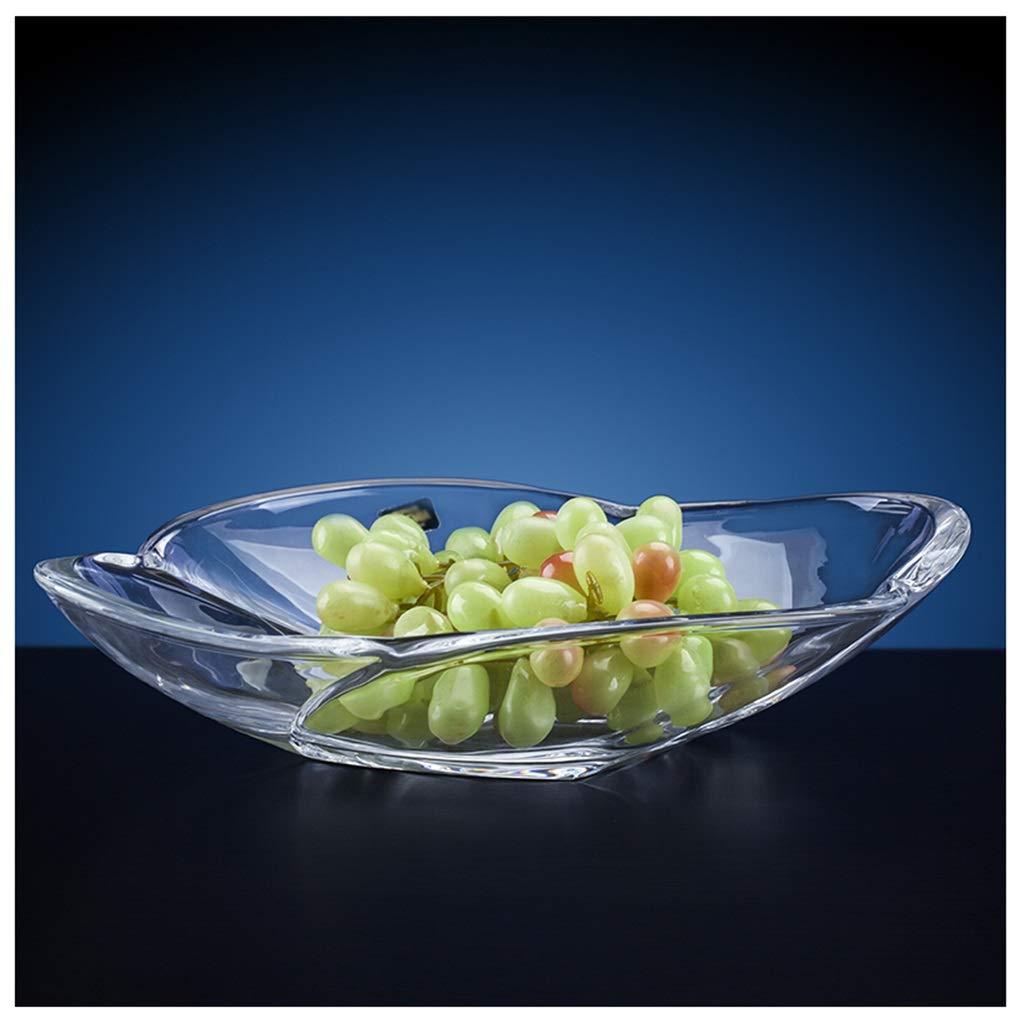 YLGROUP フルーツプレートオーバルクリスタルガラスフルーツプレートヨーロッパのクリエイティブホーム乾燥フルーツプレートフルーツプレート -02365   B07R9JN722