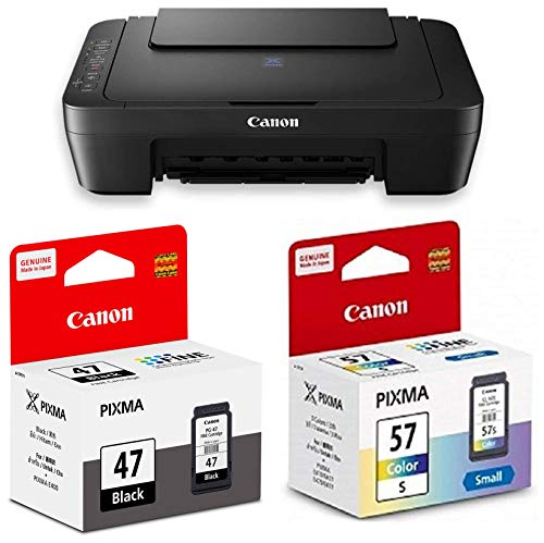 Canon E470 All in One Inkjet Colour Printer with PG47   CL57S Ink Cartridge