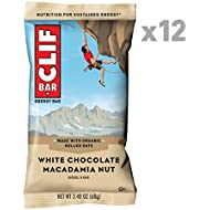 CLIF BAR - Energy Bar - White Chocolate Macadamia Flavor- (2.4 Ounce Protein Bar, 12 Count)