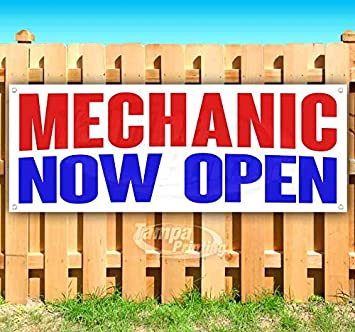 New Advertising Flag, Many Sizes Available Mechanic Help Wanted 13 oz Heavy Duty Vinyl Banner Sign with Metal Grommets Store