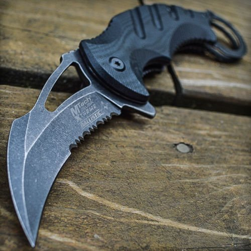 8'' Spring Assisted Open Folding Pocket Knife Karambit Claw Combat Tactical New by M-Tech