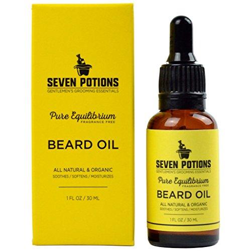 Beard Oil 30ml All Natural, Organic, Vegan. Scentless Beard Softener and...