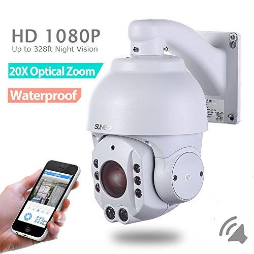 SUNBA 2.0 Megapixel 1080P HD, 4.7~94.0mm, 20X Optical Zoom, IR-Cut Night Vision, PTZ Outdoor IP Security Dome Cameras ONVIF (507-20XB P2P Cloud)