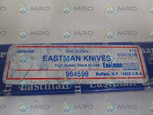 EASTMAN KNIVES 8IN. HIGH SPEED WAVE KNIVES (PKG. 12) 80C8-19 HS NEW IN BOX by Eastman