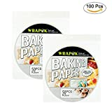 10 bamboo steamer - WRAPOK Air Fryer Liner 10 inch Round Perforated Parchment Bamboo Steamer Paper 100 Count Non-stick for Baking Steaming Basket Cooking Cake Pans Circle