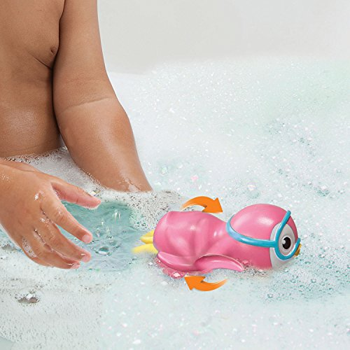 Munchkin Wind Up Swimming Penguin Bath Toy, Pink
