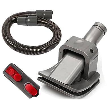 Oyster-Clean Grooming Dog Pet Brush Tool Kit For Dyson Groom Animal Allergy Vacuum Cleaner - MS01 (Grooming Dog Brush + Extension Hose + Adapter for V8/V7/V10)