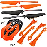 Traxxas LaTrax Alias ORANGE CONVERSION KIT - CANOPY - LED LENS & 4 ROTOR BLADES