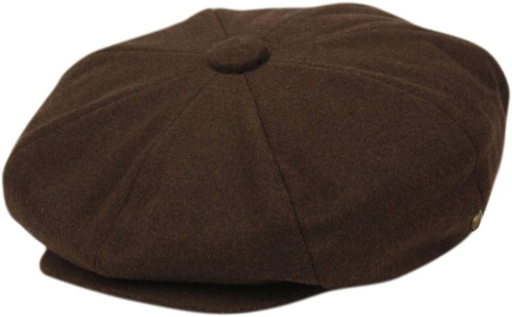 Oversize Melton Wool 8 Panel Classic Applejack Big Apple Newsboy One Size Hat Cap