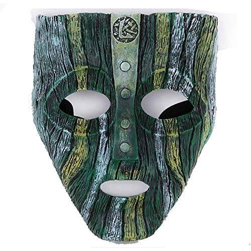 Film Theme Resin Loki Cosplay Face Mask Prop for Halloween Party Cosplay Collection (Light)]()