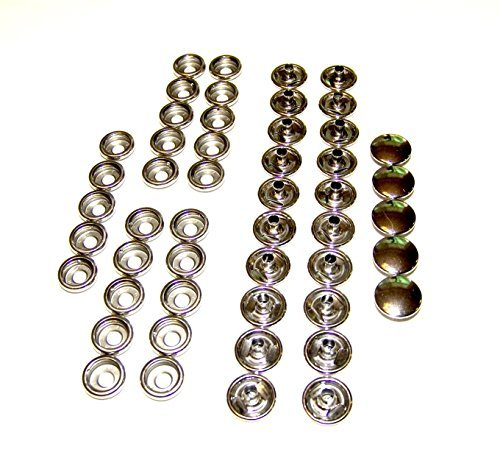 Stainless Steel Snap Fastener's, 25 Piece, Cap & Socket Only, Marine Grade by Northwest Tarp & Canvas