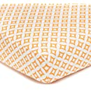 American Baby Company 100% Cotton Percale Fitted Crib Sheet for Standard Crib and Toddler Mattresses, Orange Tweedle Dee Tile