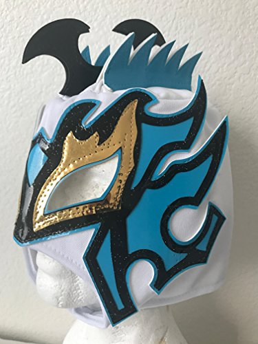 Kalisto lucha dragons kids mask White W/ blue Pentágon jr sin cara mil ()