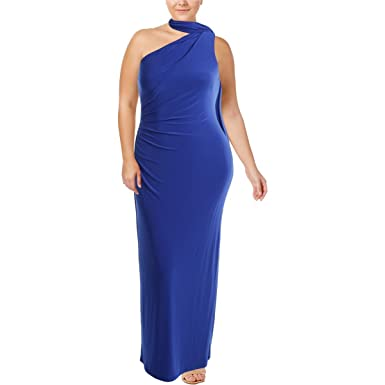 110a82444d40 LAUREN RALPH LAUREN Womens Full-Length One-Shoulder Evening Dress Blue 4 at  Amazon Women's Clothing store: