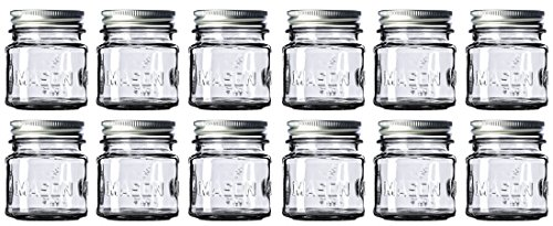 8 oz Mason Jars with Lids and Bands (12-Count) from Quality Producer Direct, Safe, Food-Grade, and Versatile. Use for Canning, Party Favors, Storage, Glassware, Etc. (Oven Safe Mason Jars)