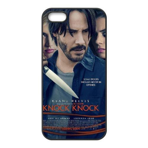 Knock Knock 2 coque iPhone 5 5S cellulaire cas coque de téléphone cas téléphone cellulaire noir couvercle EOKXLLNCD25318