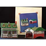 Grandmother's House and Covered Bridge Town and country #4 in series 2002 hallmark ornament