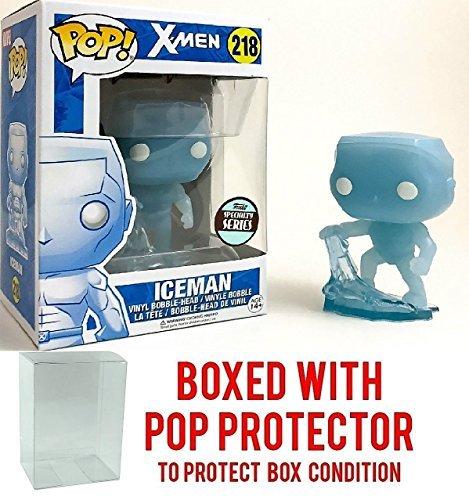 Funko Pop! Marvel: X-Men Ice Man Specialty Series Iceman Vinyl Figure (Bundled with Pop BOX PROTECTOR CASE)]()