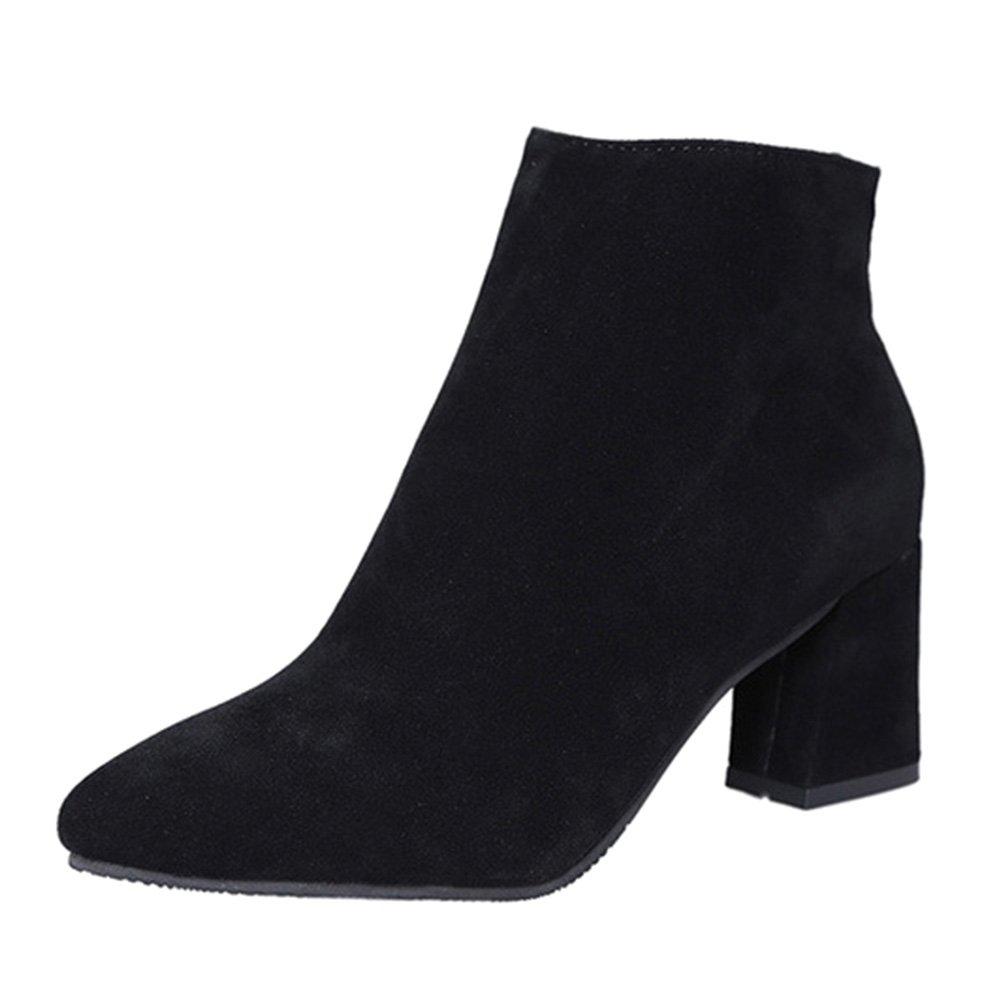 Hibote Chaussures de s Bottes Élégantes de pour Cheville Mode 2017 19989 pour Femmes Bottines Talons Noir 157f10f - latesttechnology.space