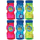 Fun Filled Summer Super Miracle Bubble Makers Party Activity, Assorted Colors, Plastic, 4 Ounces, Pack of 6