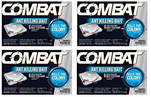Combat Source Kill 4: Six Ant Bait Stations. Kills Queen & Entire Colony. Henkel 45901 - Set of (Kill Bait)