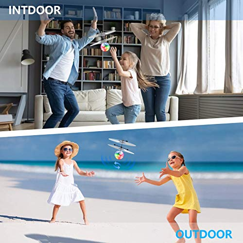 UTTORA kizplays Flying Ball, Giocattoli per Bambini RC Elicottero a induzione a infrarossi Gadget Divertenti Mini Drone Giocattoli Volanti con luci LED Lampeggianti per Bambini Adulti