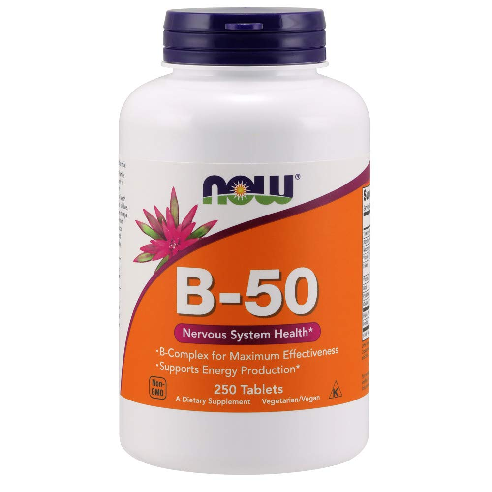 Amazon.com: Ahora Vitamina B-50 mg, 250 Tablets: Health ...