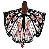 Women Christmas Butterfly Wings-Vovomay Shawl Scarves Poncho Costume Accessory (White)