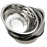 Nicesh Stainless Bowls Set, Mixing Bowl Set, Dishwasher Safe, Pack of 4