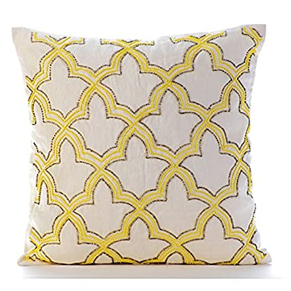 Amazon Yellow Throw Pillows Cover For Couch Lattice Trellis Extraordinary Yellow Decorative Pillows Couch