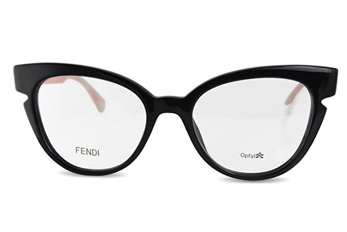 be4abd04aa4 FENDI Eyeglasses 0134 0N7A Black Crystal 50MM at Amazon Men s Clothing  store