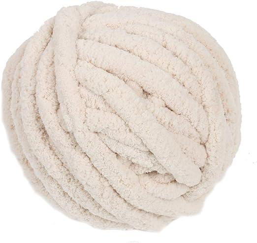 Shuzhen,Leche Bricolaje algodón algodón Lana Gruesa(Color:Crema DE ...