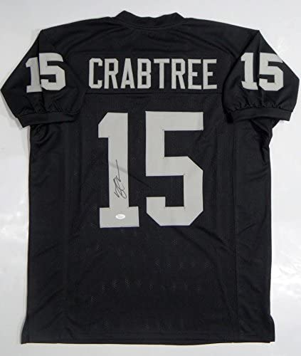 Michael Crabtree Autographed Black Pro Style Jersey- JSA W ...