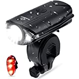 N N.ORANIE Bike Lights USB Rechargeable Light Set, Bicycle Headlight Front Light and Free Rear Back Tail Light, IP 65 Waterproof, 700 Lumens Super Bright