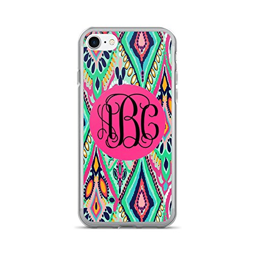 Custom Monogrammed   Lilly Inspired Print   Iphone 7 Or 8 Case  Jewel