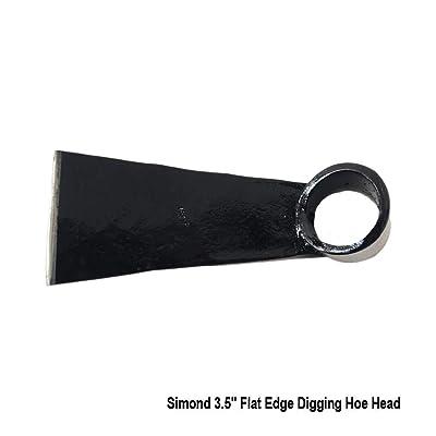 "Simond Store 2.1 Lbs, Digging Hoe Head, 3.5"" Flat Edge, Garden Tool : Garden & Outdoor"