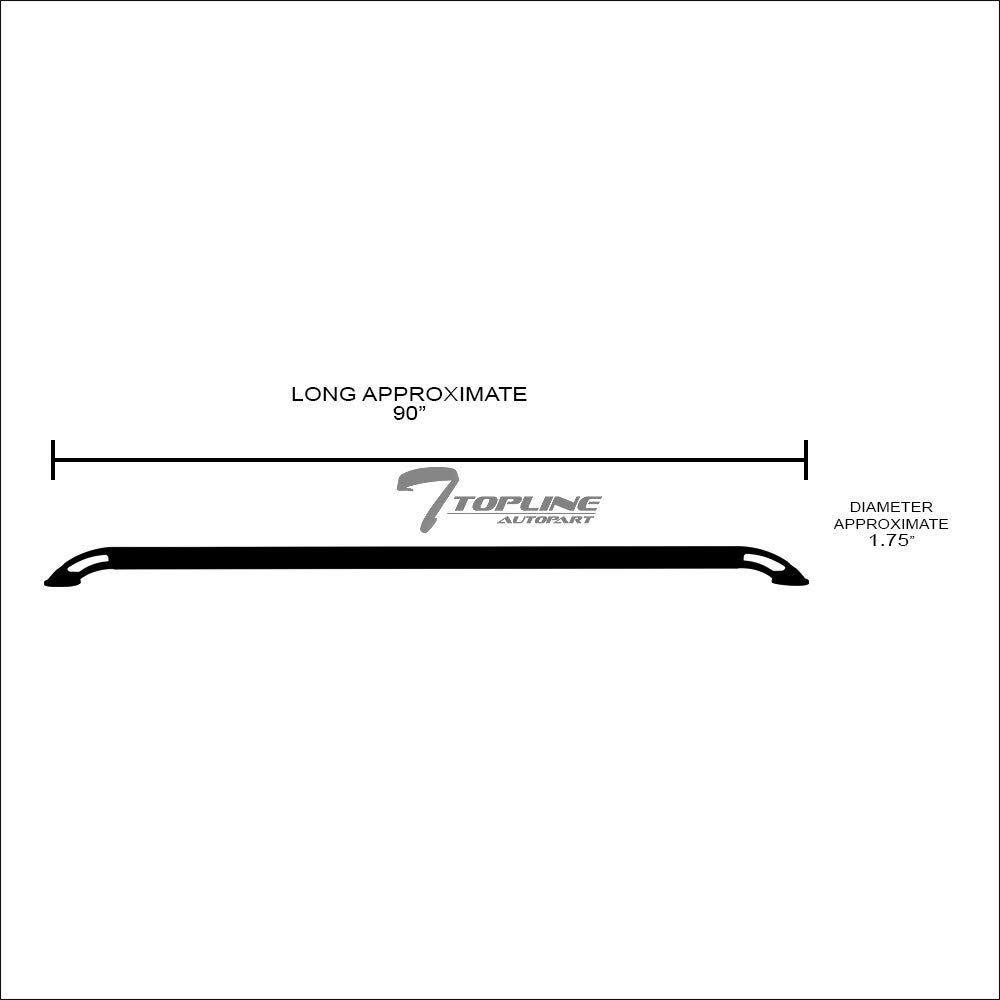 1.75 Heavy Duty Stainless Steel Chrome Square Shaped Tube Truck Side Bar Rails RS For 99-06//07 Chevy Silverado ; GMC Sierra Fleetside 8 Ft 96 Long Bed Topline Autopart Nylon Style