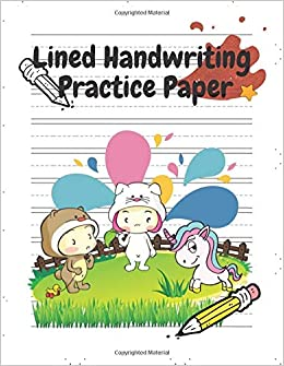 Lined Handwriting Practice Paper: Notebook With Blank Tables Writing ...