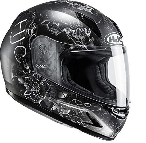HJC Helmets Helm CLY CL-Y VELA MC-5SF Kinderhelm Motorradhelm für Kinder (M (52/53)) Hjc Cl-y Vela Schwarz/Grau