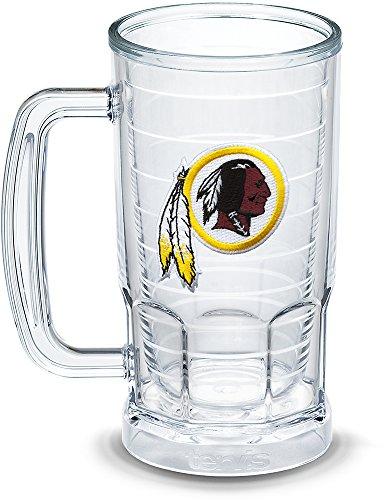 Tervis 1303328 NFL Washington Redskins Primary Logo Insulated Tumbler with Emblem 16oz Beer Mug Clear