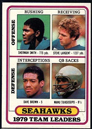 Football NFL 1980 Topps #57 Sherman Smith/Steve Largent/Dave Brown/Manu Tuiasosopo TL - Smith Nfl Steve Football