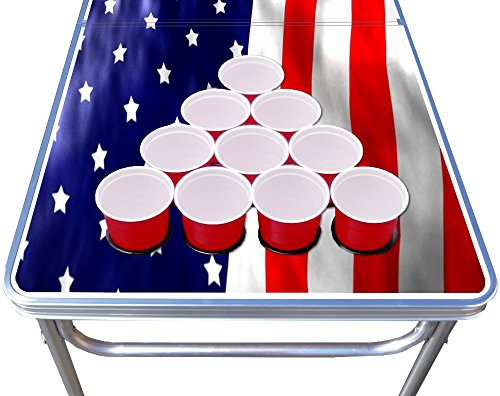 8 foot professional beer pong table w cup holes america edition buy online in uae misc - Professional beer pong table ...