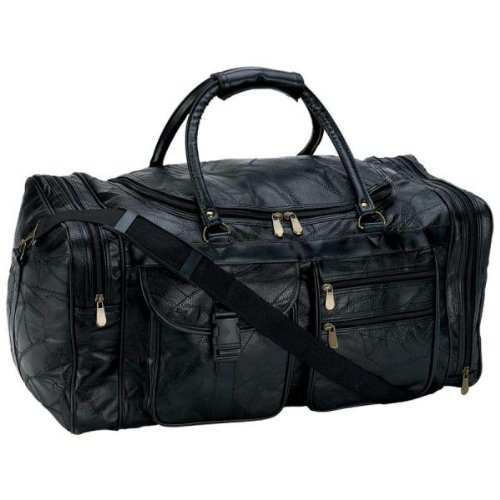 B&F Embassy 25 In. Leather Cowhide Duffle Bg [Kitchen], LULCW25 - Genuine Bag Shoulder Leather Embassy
