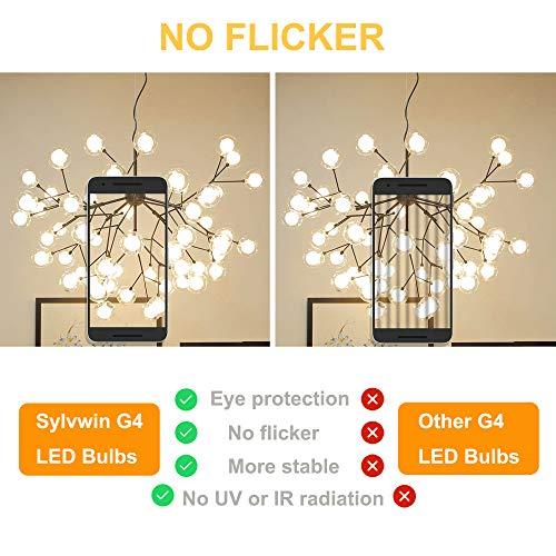 Sylvwin G4 Bombillas,3W LED Lámparas Blanco Cálido 3000K,Equivalente 35W Halógenas,350LM,AC/DC 12V Ángulo de Haz de 360°,Lámpara LED G4 Sin Parpadeo,No Regulable,Paquete de 10