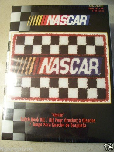 Caron Rug Kits - CARON NASCAR LATCH HOOK RUG KIT 20
