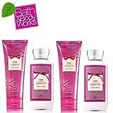 Bath & Body Works Pink Confetti Gift Set - 2 Body Lotion & 2 Body Cream Full size